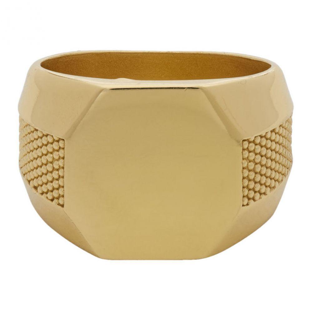 エマニュエレ ビコッキ Emanuele Bicocchi メンズ 指輪・リング ジュエリー・アクセサリー【Gold Plain Signet Ring】Gold