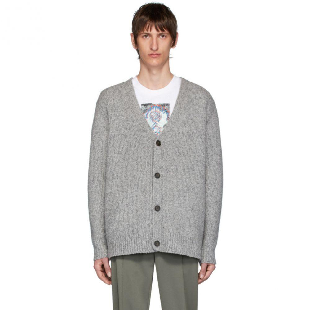アクネ ストゥディオズ Acne Studios メンズ カーディガン トップス【Grey Cashmere Relaxed Kabelo Cardigan】Medium grey melange
