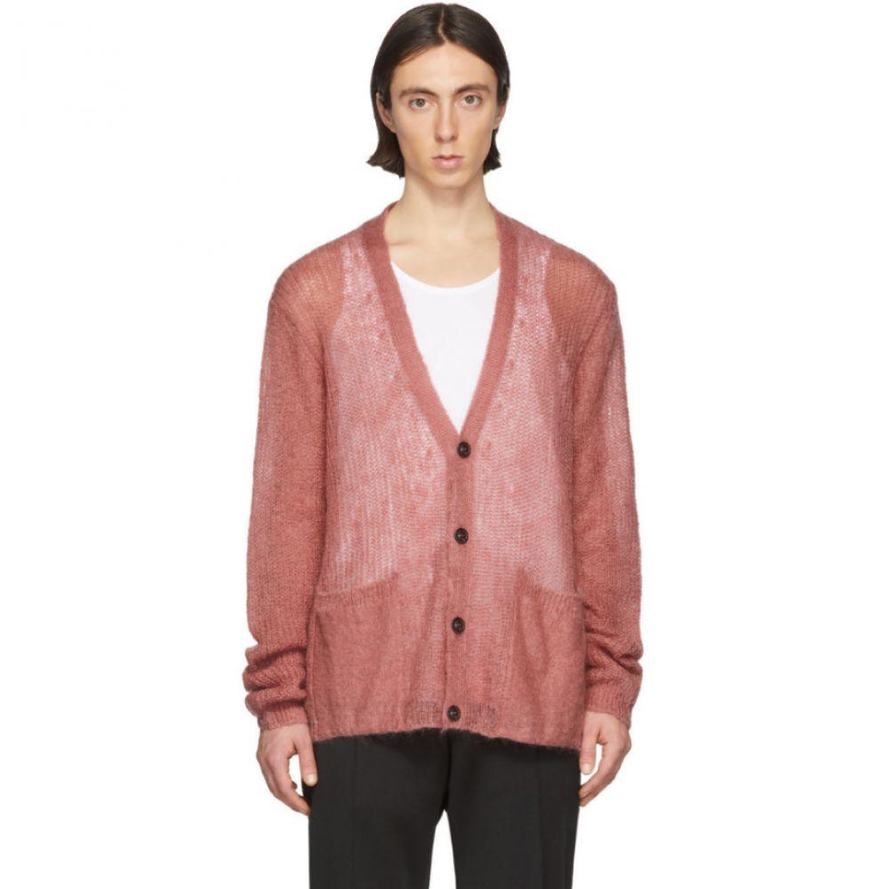 メゾン マルジェラ Maison Margiela メンズ カーディガン トップス【Pink Mohair Cardigan】Blush pink