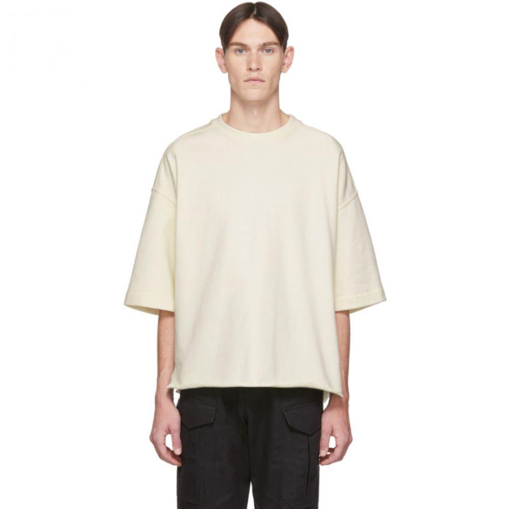 ジル サンダー Jil Sander+ メンズ スウェット・トレーナー 七分袖 トップス【Off-White Three-Quarter Sleeve Sweatshirt】Porcelain white