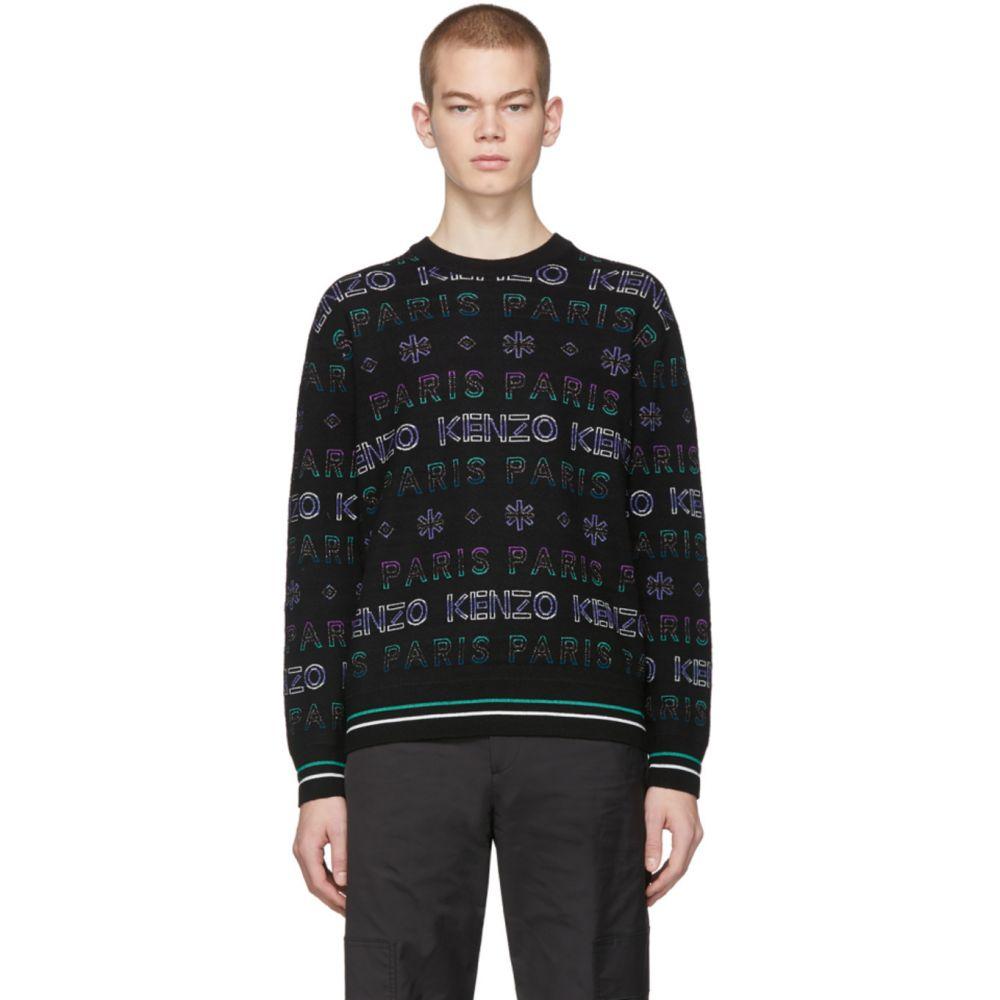 ケンゾー Kenzo メンズ スウェット・トレーナー トップス【Black & Purple Limited Edition Holiday Knit Sweatshirt】Black/Purple
