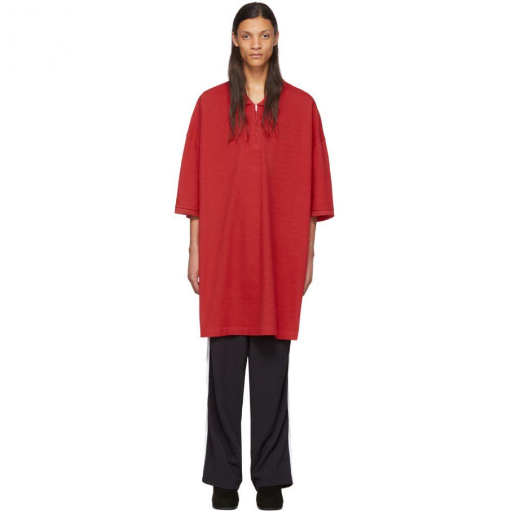 ランダム アイデンティティーズ Random Identities メンズ ポロシャツ トップス【Red Oversized Cut-Out Polo】Red