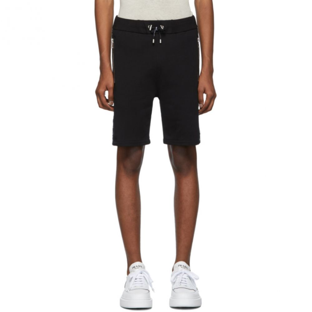 バルマン Balmain メンズ バスケットボール ショートパンツ ボトムス・パンツ【Black Basketball Shorts】Black