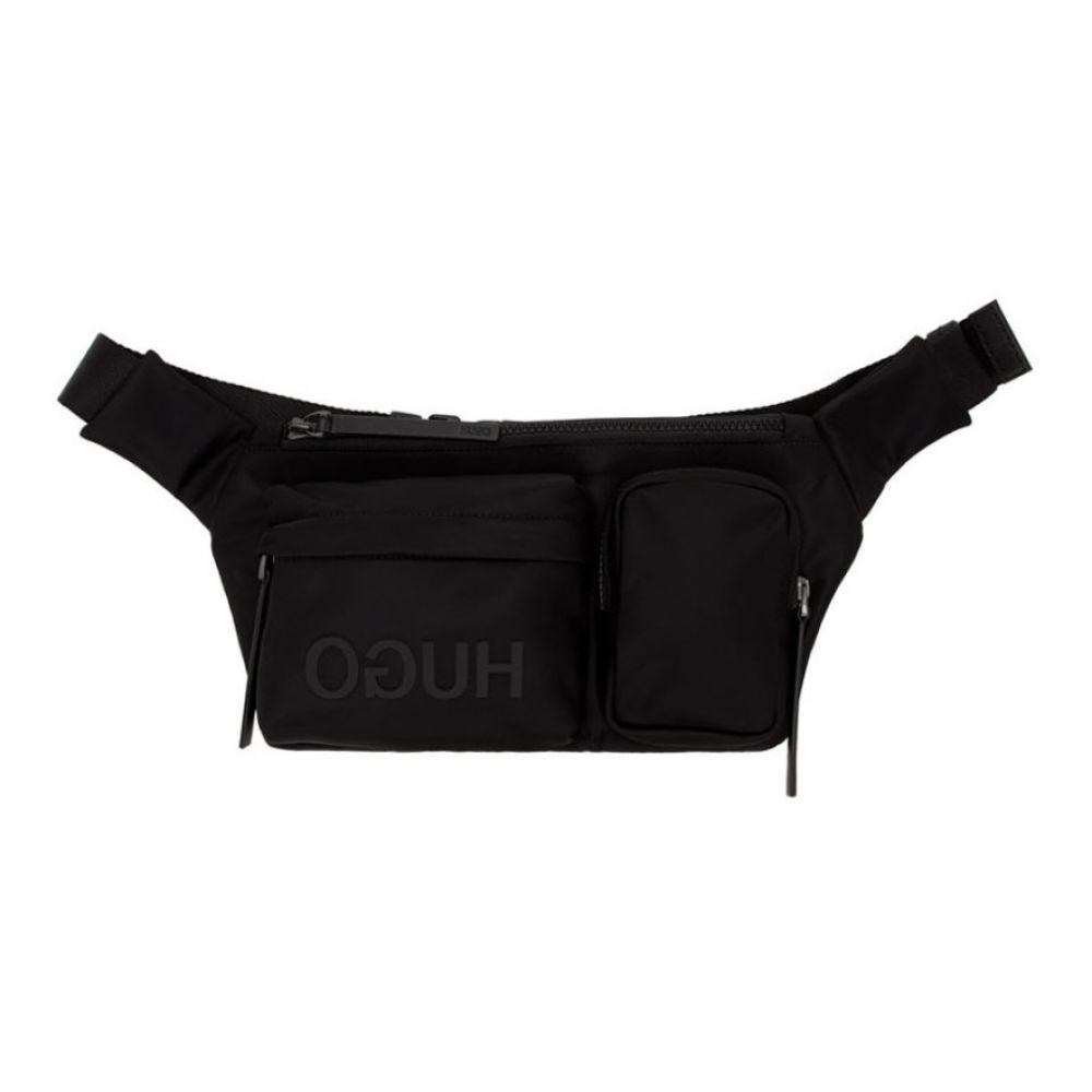 ヒューゴ ボス Hugo メンズ ボディバッグ・ウエストポーチ バッグ【Black Record Waist Bag】Black