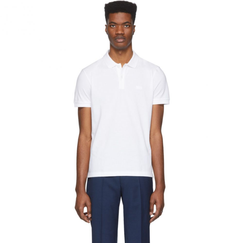 ヒューゴ ボス Boss メンズ ポロシャツ トップス【White Piro Regular-Fit Polo】White
