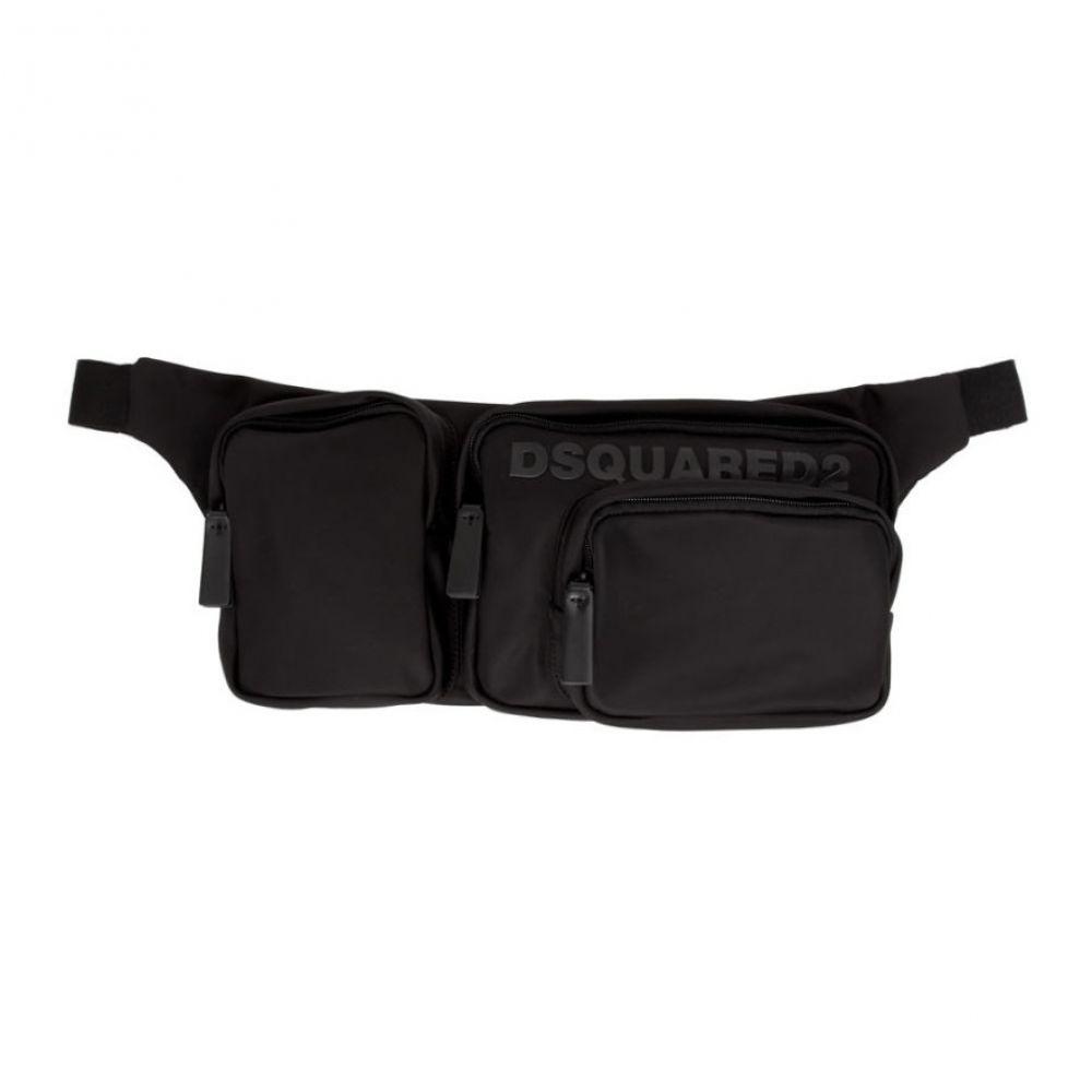 ディースクエアード Dsquared2 メンズ ボディバッグ・ウエストポーチ バッグ【Black Nylon Belt Bag】Black