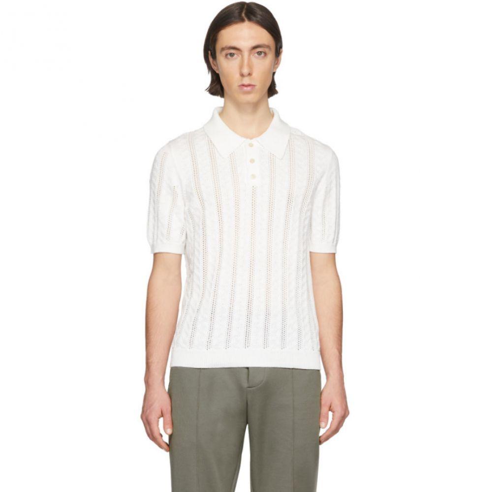 メゾン マルジェラ Maison Margiela メンズ ポロシャツ トップス【White Ace Polo】White