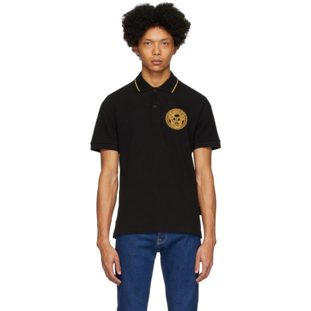 ヴェルサーチ Versace Jeans Couture メンズ ポロシャツ トップス【Black Medallion Polo】Black