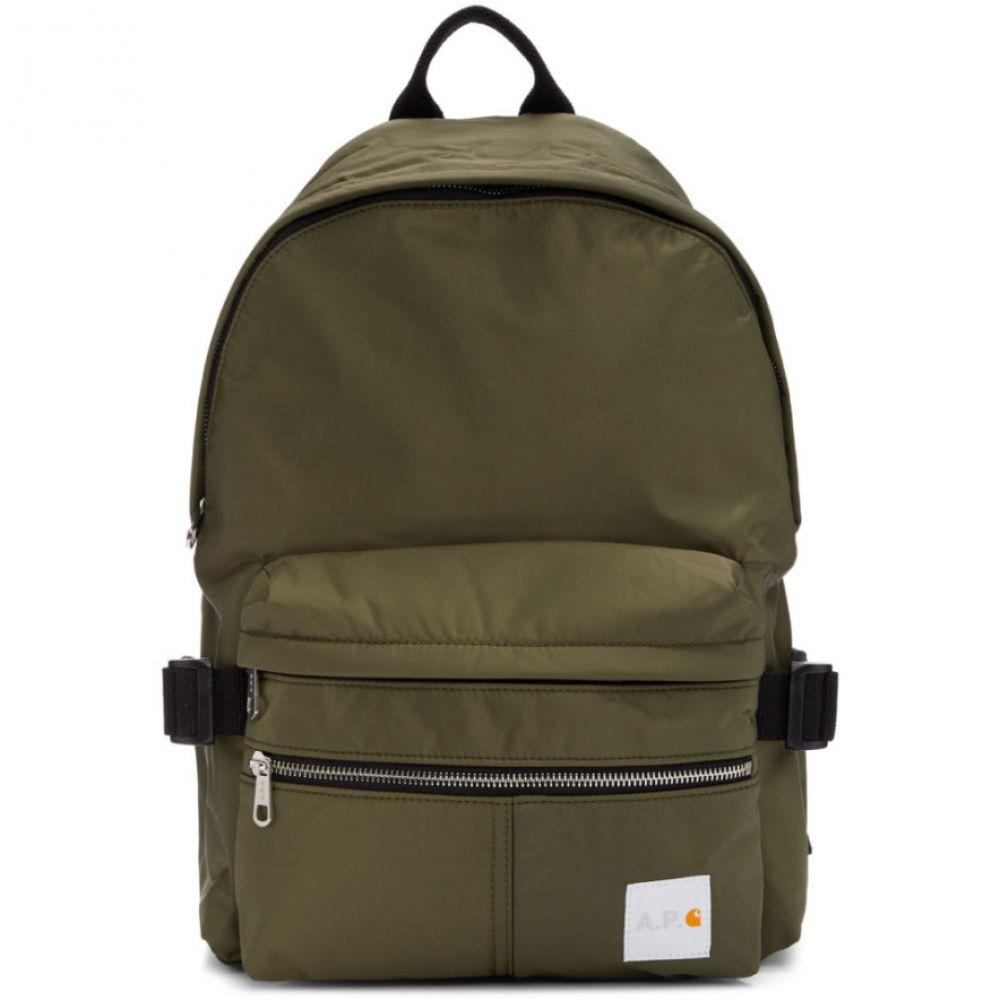 アーペーセー A.P.C. メンズ バックパック・リュック バッグ【Khaki Carhartt WIP Edition Backpack】Khaki
