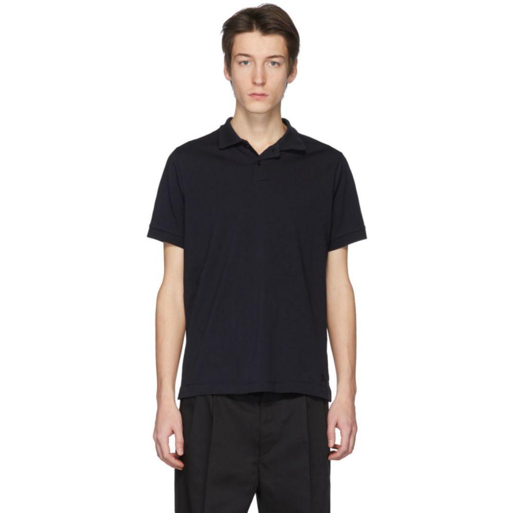ジル サンダー Jil Sander+ メンズ ポロシャツ トップス【Navy Jersey Polo】Midnight