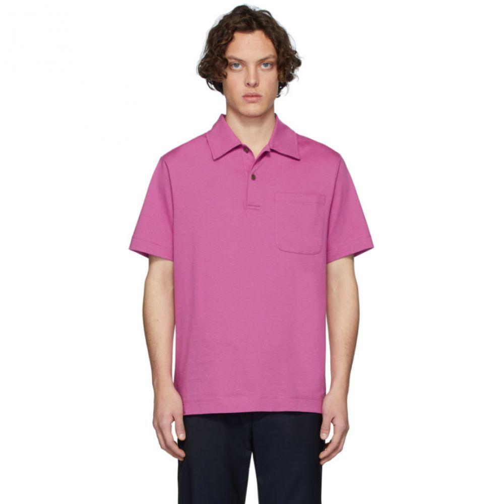 ドリス ヴァン ノッテン Dries Van Noten メンズ ポロシャツ トップス【Pink Hadler Polo】Fuchsia
