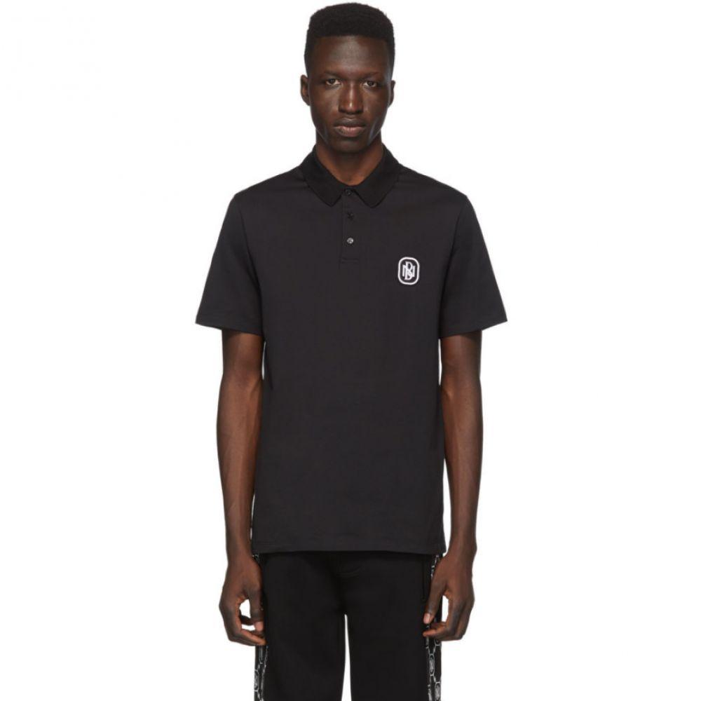 ニール バレット Neil Barrett メンズ ポロシャツ トップス【Black New Logo Jersey Polo】Black/White
