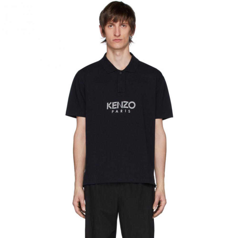 ケンゾー Kenzo メンズ ポロシャツ トップス【Black ' Paris' Polo】Black
