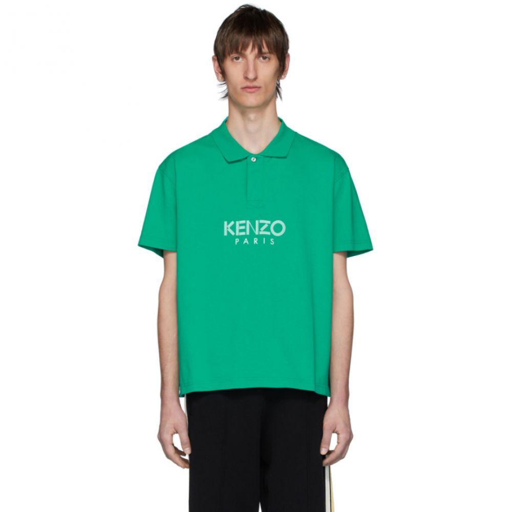ケンゾー Kenzo メンズ ポロシャツ トップス【Green ' Paris' Polo】Mint