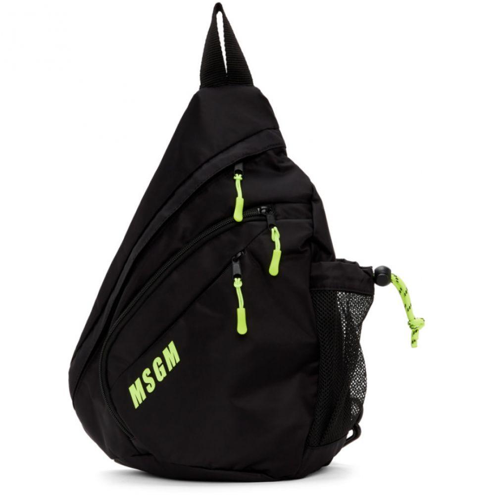 エムエスジーエム MSGM メンズ バックパック・リュック バッグ【Black Logo Monostrap Backpack】Black