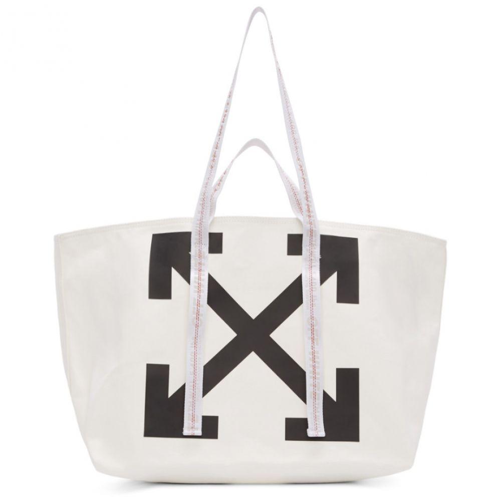 オフホワイト Off-White メンズ トートバッグ キャンバストート バッグ【White Canvas Arrows Commercial Tote】White