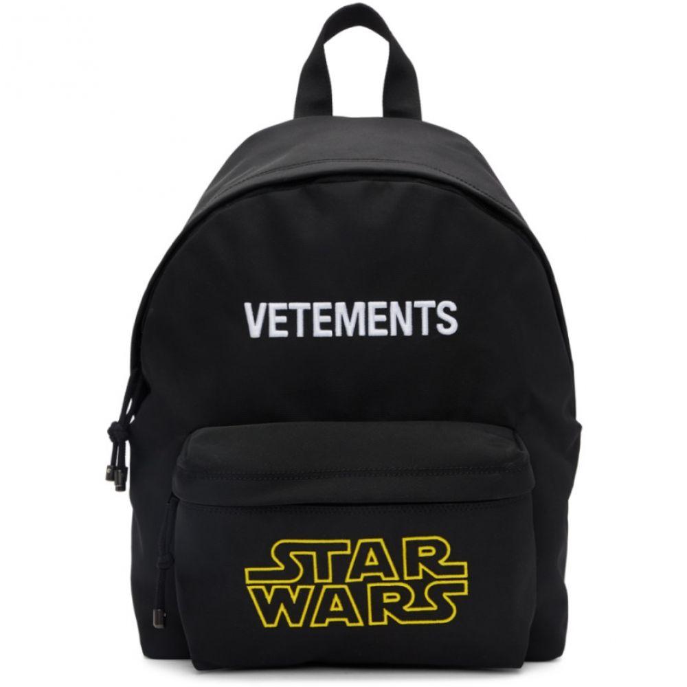 ヴェトモン VETEMENTS メンズ バックパック・リュック バッグ【Black STAR WARS Edition Logo Backpack】Black