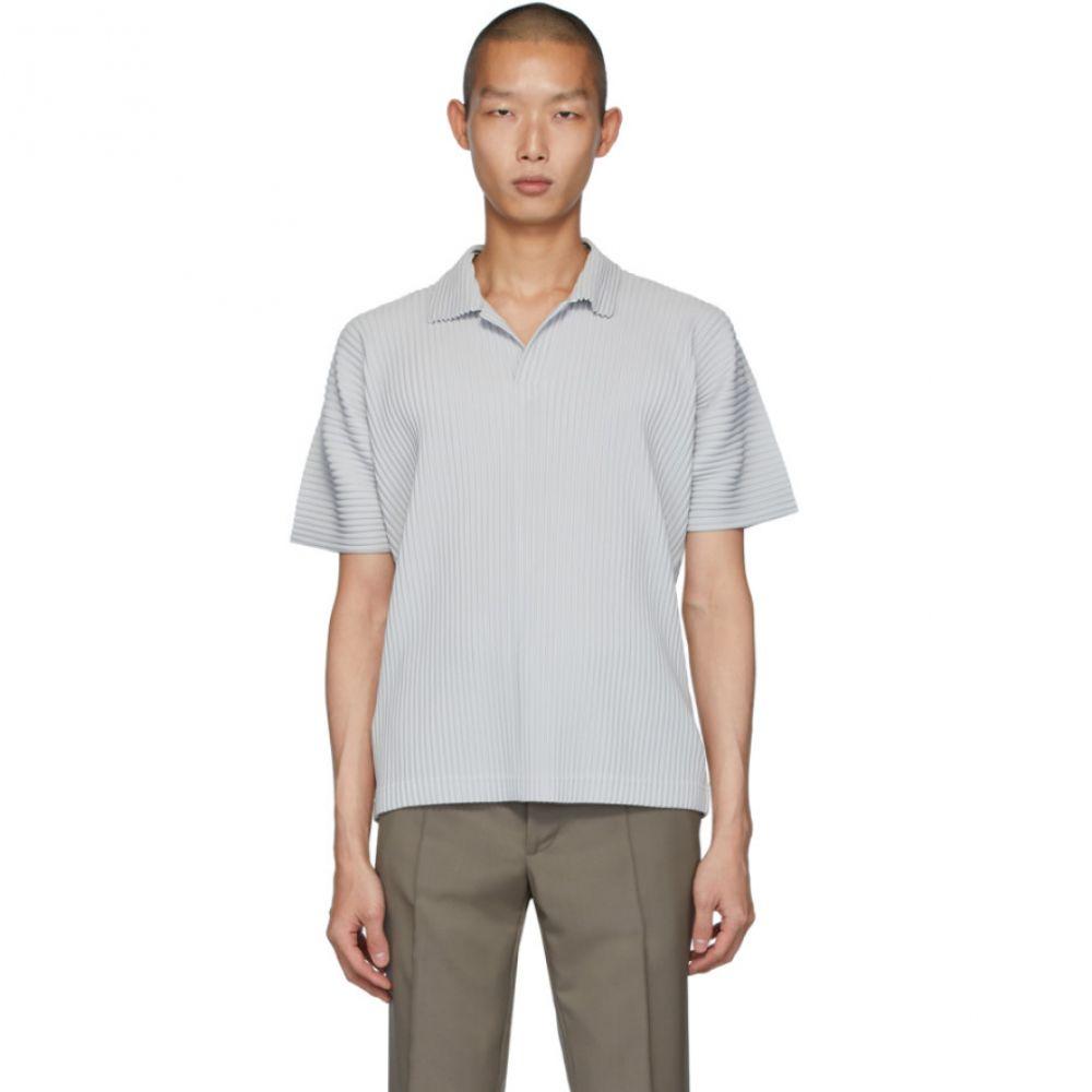イッセイ ミヤケ Homme Plisse Issey Miyake メンズ ポロシャツ トップス【Grey Basics Polo】Light grey