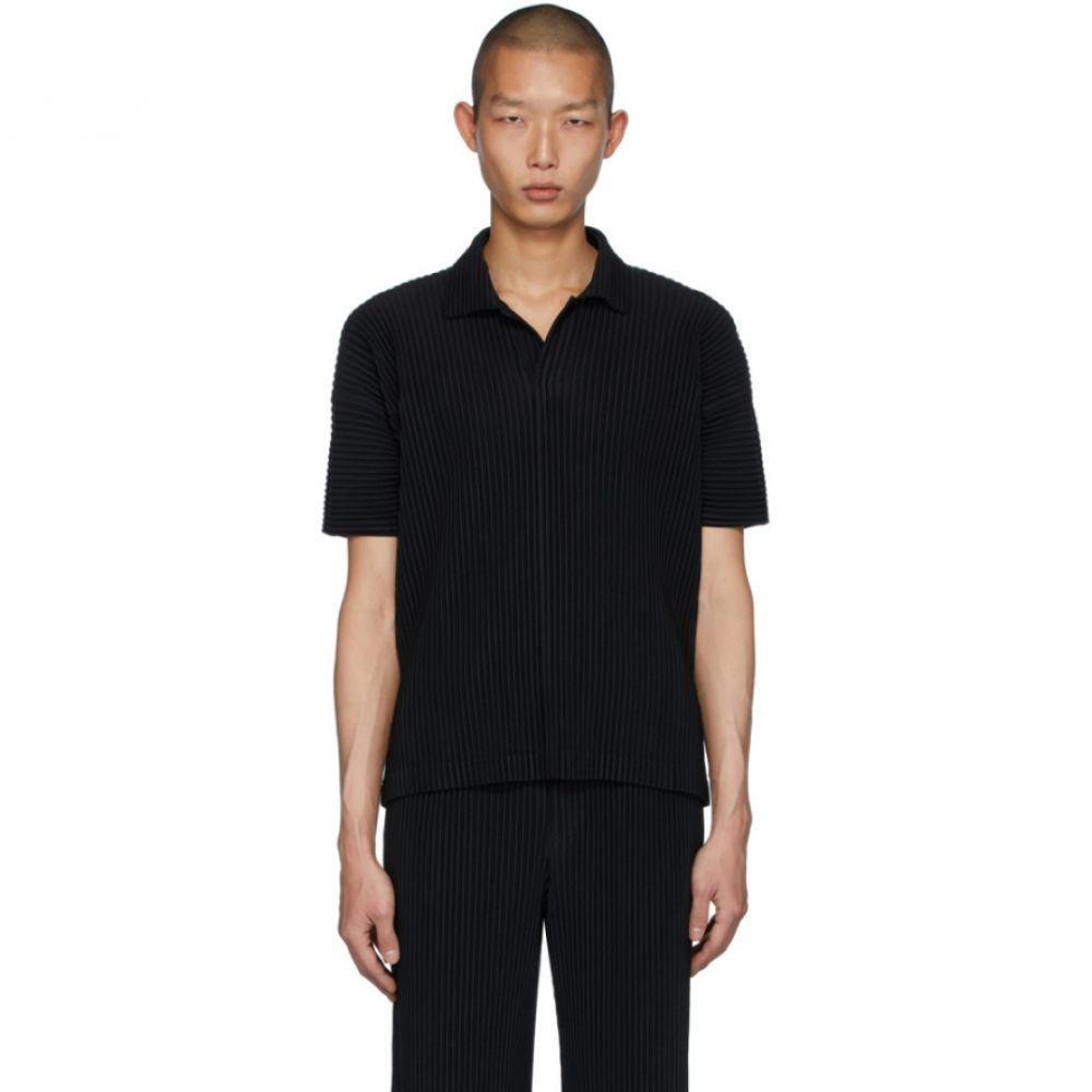 イッセイ ミヤケ Homme Plisse Issey Miyake メンズ ポロシャツ トップス【Black Basics Polo】Black