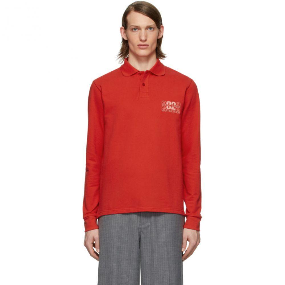 マーティン ローズ Martine Rose メンズ ポロシャツ トップス【Red Jacquard Polo】Red