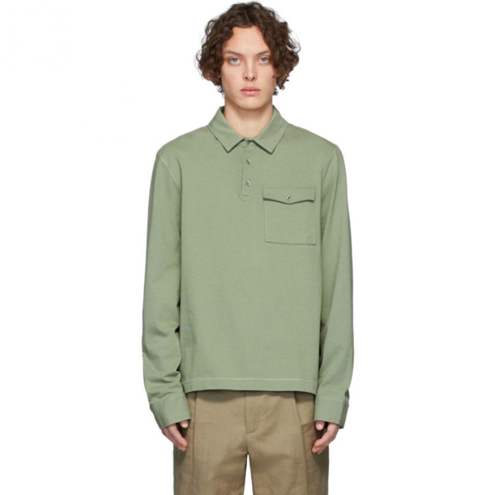 ジョゼフ Joseph メンズ ポロシャツ トップス【Green Heavy Jersey Long Sleeve Polo】Khaki