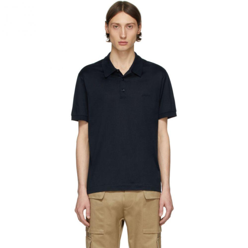 ブリオーニ Brioni メンズ ポロシャツ トップス【Navy Logo Polo】Navy