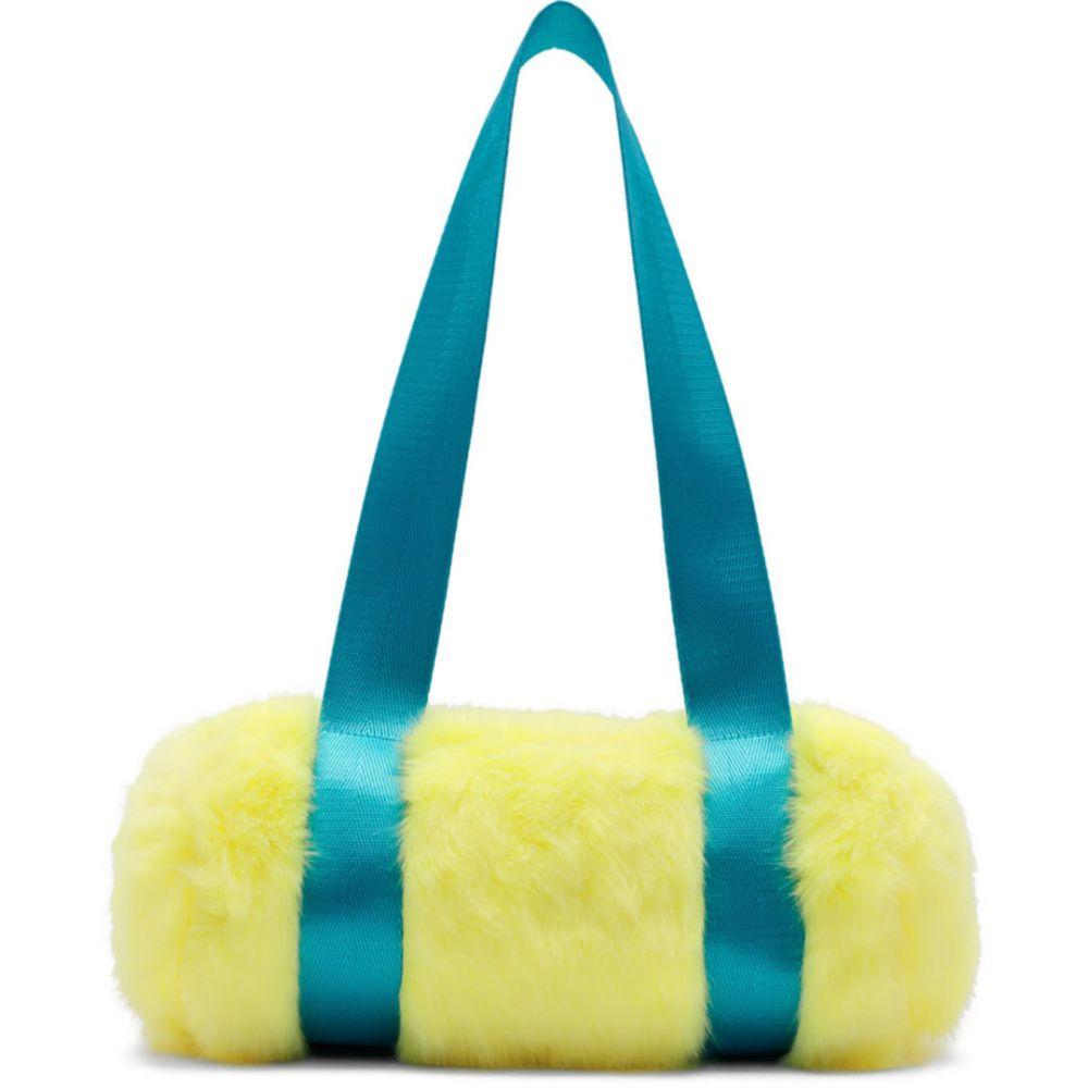 ランドロード Landlord メンズ ボストンバッグ・ダッフルバッグ バッグ【Yellow & Blue Mini Faux-Fur Duffle Bag】Matcha yellow