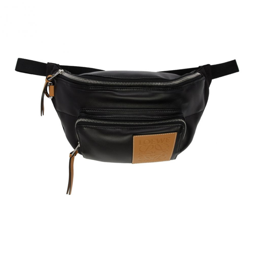 ロエベ Loewe メンズ ボディバッグ・ウエストポーチ バッグ【Black Puffy Bum Bag】Black