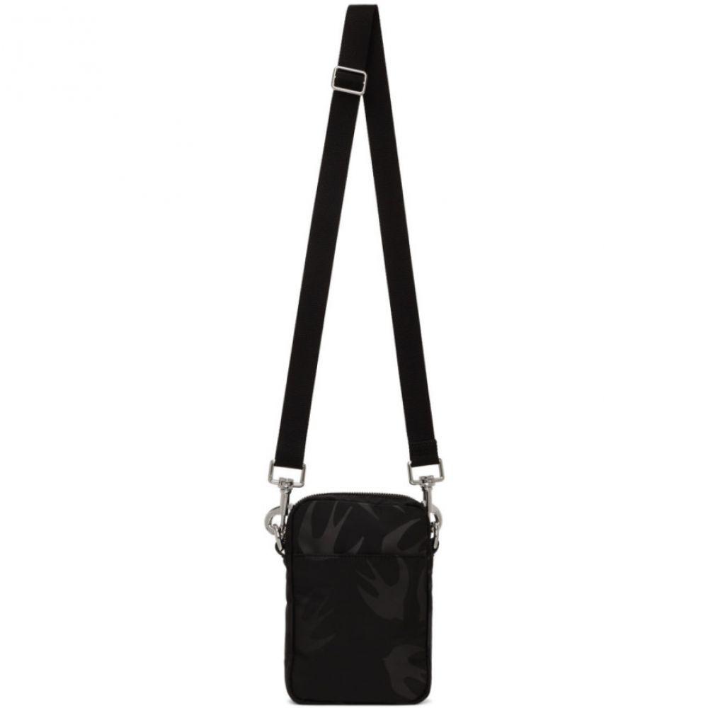 アレキサンダー マックイーン McQ Alexander McQueen メンズ メッセンジャーバッグ ネックストラップ バッグ【Black Medium Lanyard Crossbody Bag】Black