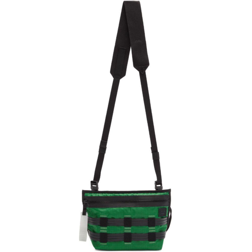 アクネ ストゥディオズ Acne Studios メンズ メッセンジャーバッグ バッグ【Green & Black Abbey Messenger Bag】Green/Black