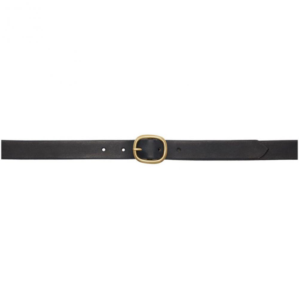 マキシマム ヘンリー Maximum Henry メンズ ベルト 【Black & Gold Slim Oval Belt】Black/Gold