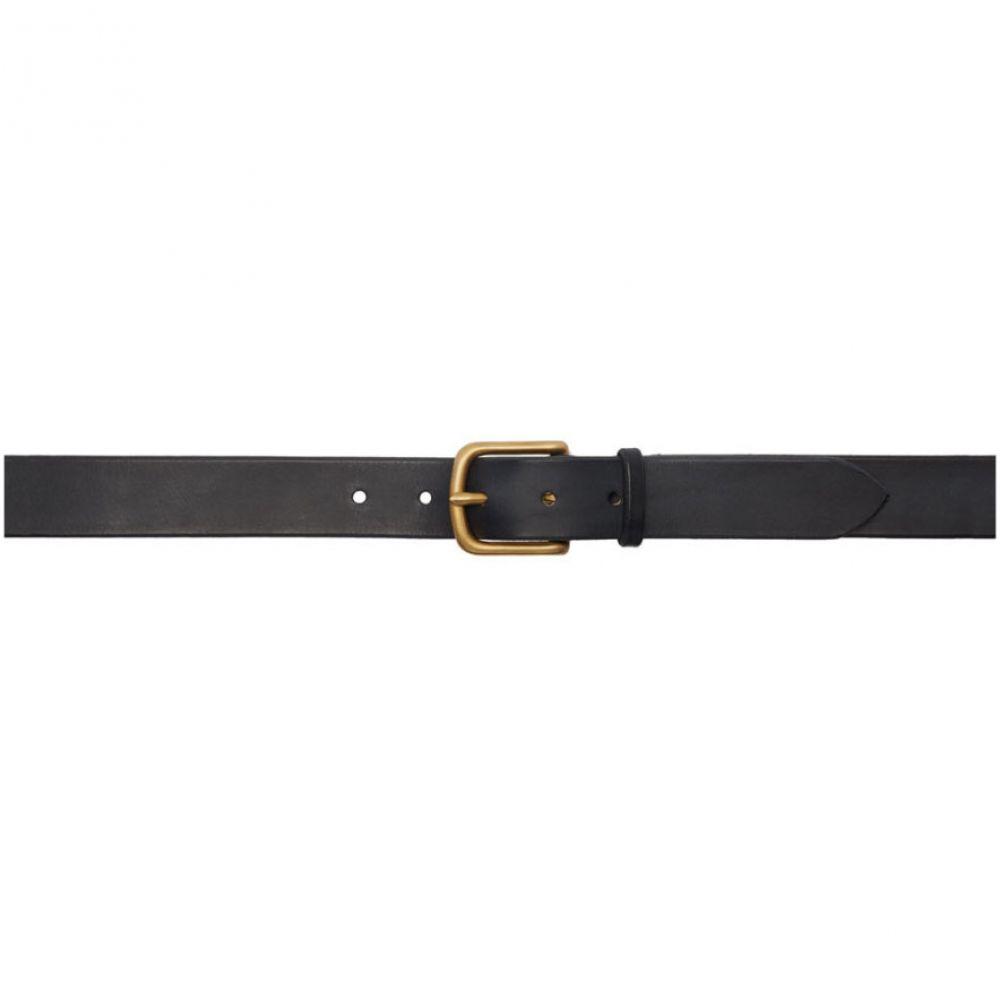 マキシマム ヘンリー Maximum Henry メンズ ベルト 【Black & Gold Wide Standard Belt】Black/Gold