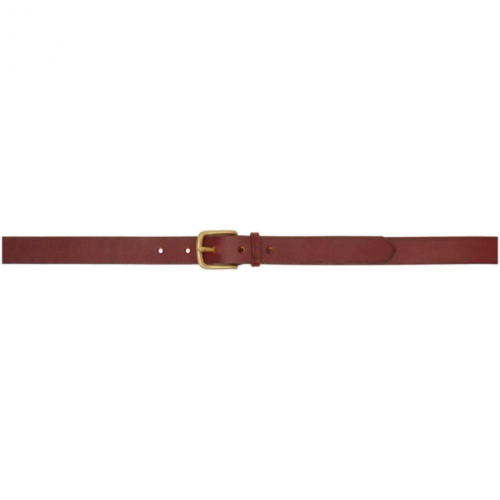 マキシマム ヘンリー Maximum Henry メンズ ベルト 【Burgundy Slim Standard Belt】Oxblood/Gold