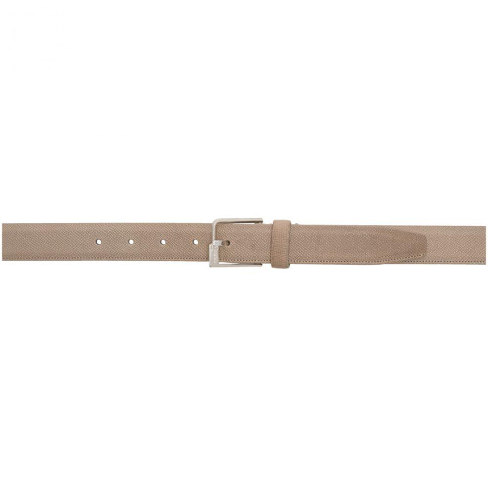 メゾン マルジェラ Maison Margiela メンズ ベルト 【Beige Leather Minimal Belt】Sepia