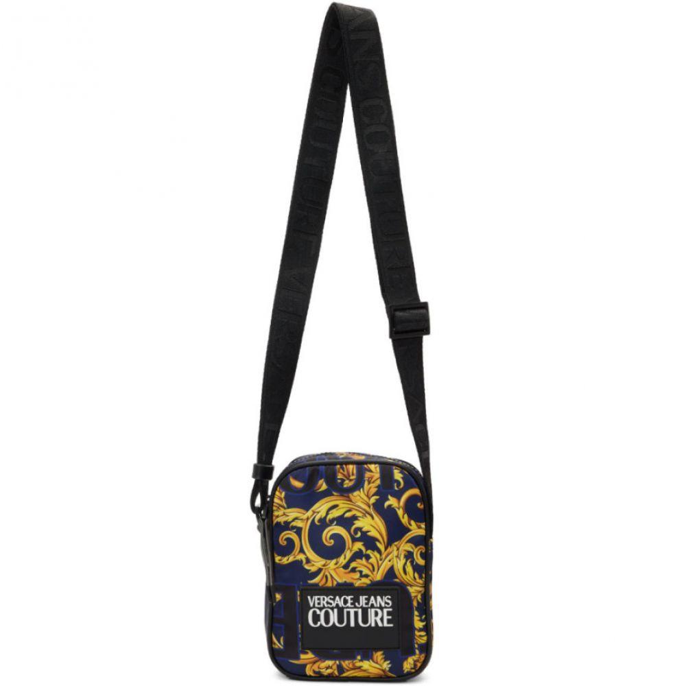 ヴェルサーチ Versace Jeans Couture メンズ メッセンジャーバッグ バッグ【Blue & Yellow Barocco Messenger Bag】Blue