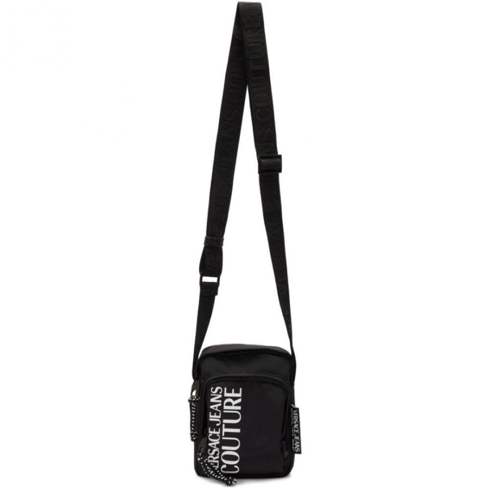 ヴェルサーチ Versace Jeans Couture メンズ メッセンジャーバッグ バッグ【Black Nylon Logo Crossbody Bag】Black