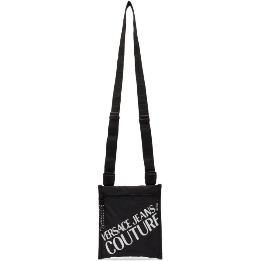 ヴェルサーチ Versace Jeans Couture メンズ メッセンジャーバッグ バッグ【Black Logo Crossbody Bag】Black