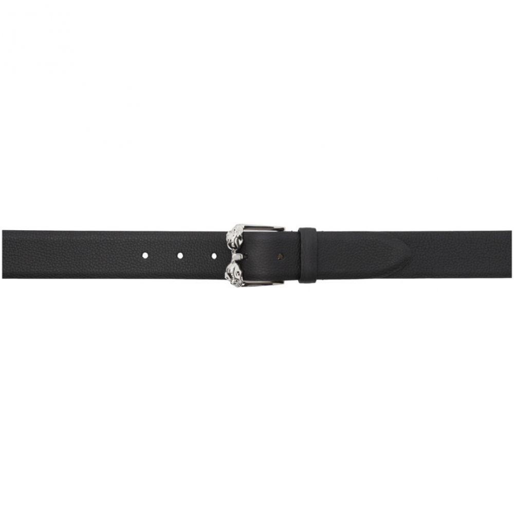 アレキサンダー マックイーン Alexander McQueen メンズ ベルト 【Black Twin Skull Belt】Black