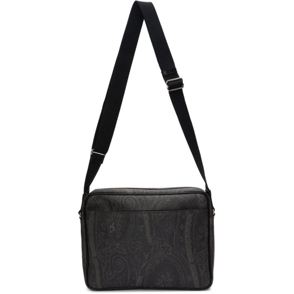 エトロ Etro メンズ メッセンジャーバッグ バッグ【Black Paisley Messenger Bag】Black