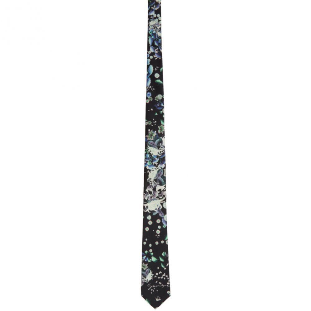 ジバンシー Givenchy メンズ ネクタイ 【Black Silk Floral Tie】Black
