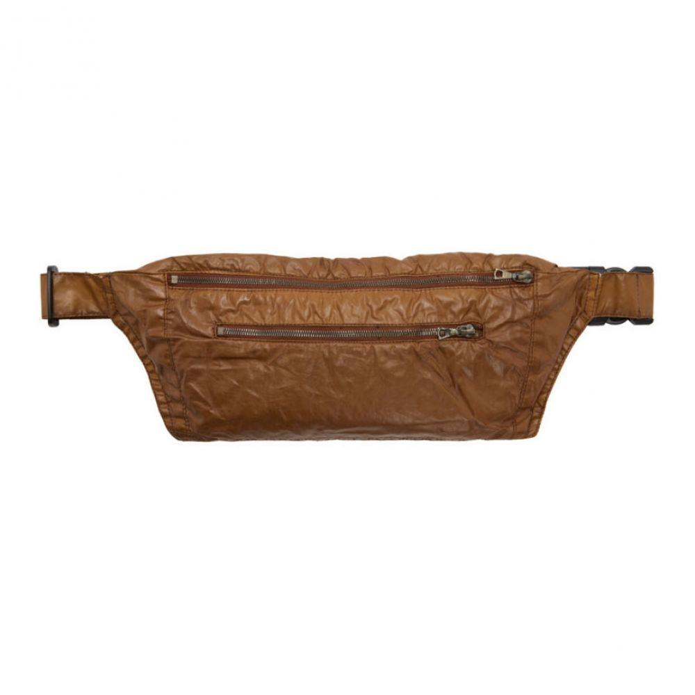 ドリス ヴァン ノッテン Dries Van Noten メンズ メッセンジャーバッグ バッグ【Brown Coated Beltbag】Cognac