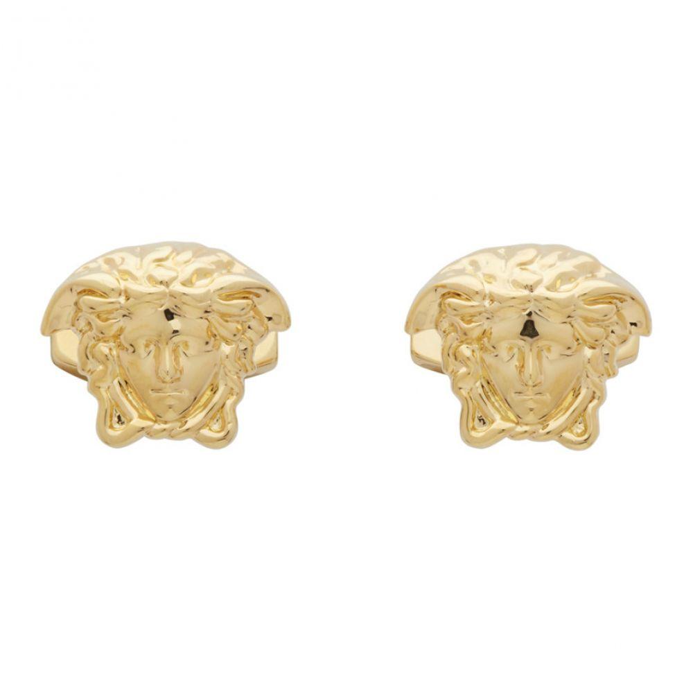 ヴェルサーチ Versace メンズ カフス・カフリンクス メデューサ【Gold Medusa Cufflinks】Gold