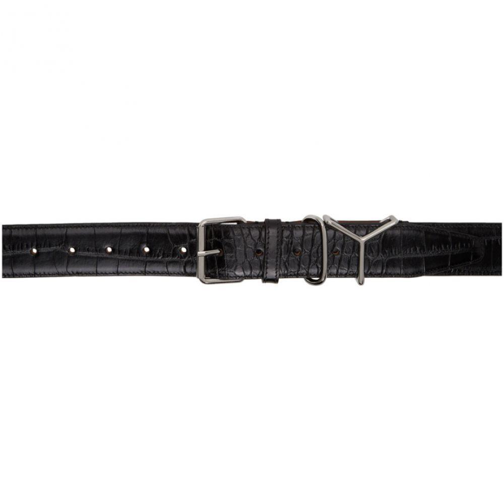 ワイプロジェクト Y/Project メンズ ベルト 【Black Croc Logo Belt】Black