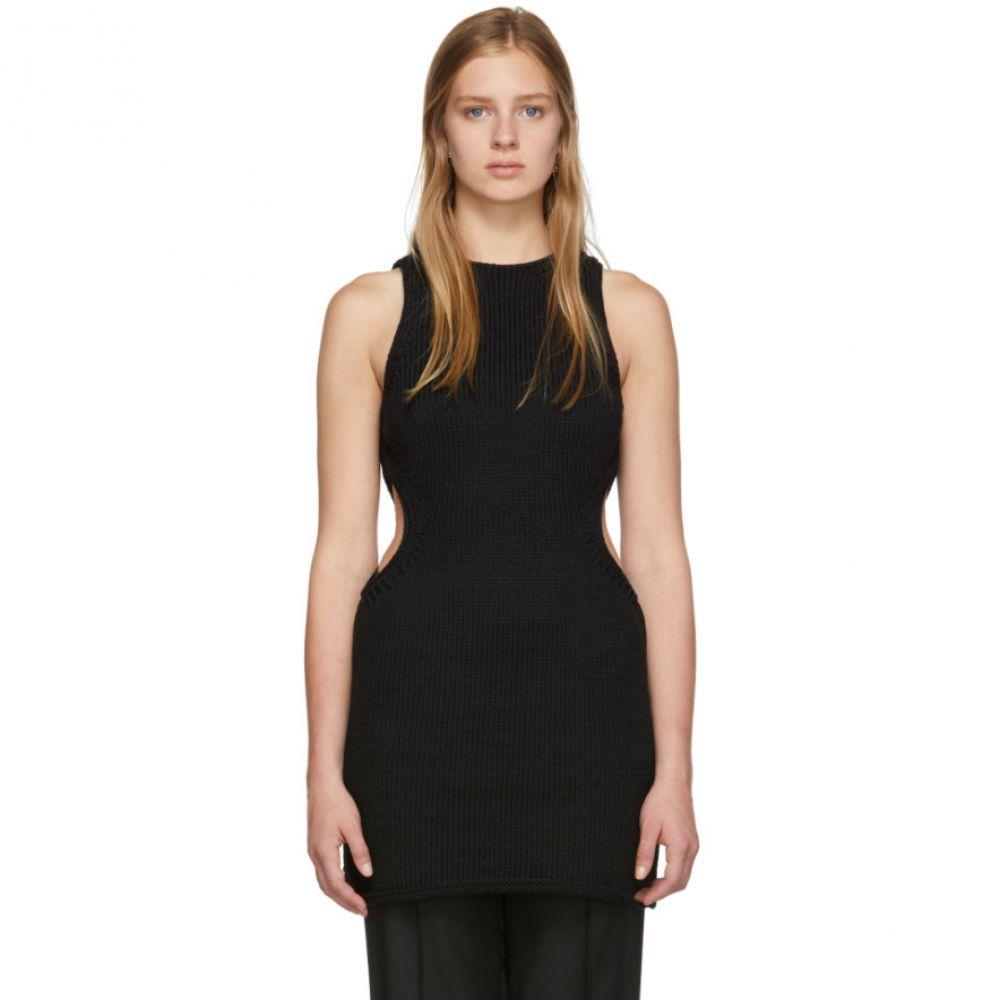 マリナ モスコーン Marina Moscone レディース チュニック チュニックドレス トップス【Black Silk Cut Away Tunic Dress】