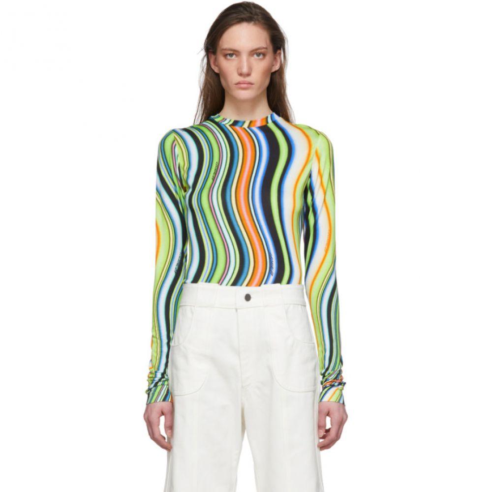 レカヴァリエ Lecavalier レディース 長袖Tシャツ トップス【Multicolor Jersey Long Sleeve T-Shirt】Green