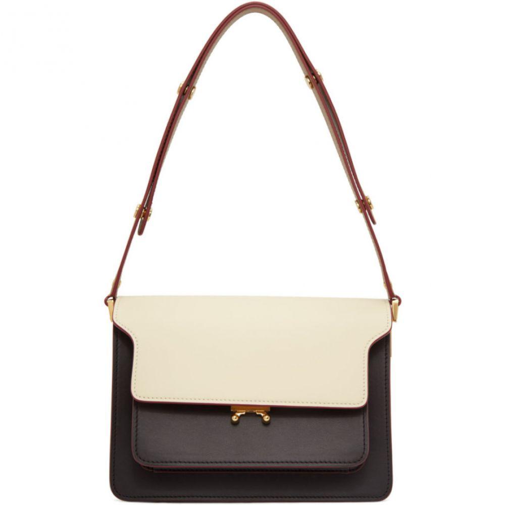 マルニ Marni レディース ショルダーバッグ バッグ【White & Brown Medium Trunk Bag】Silk
