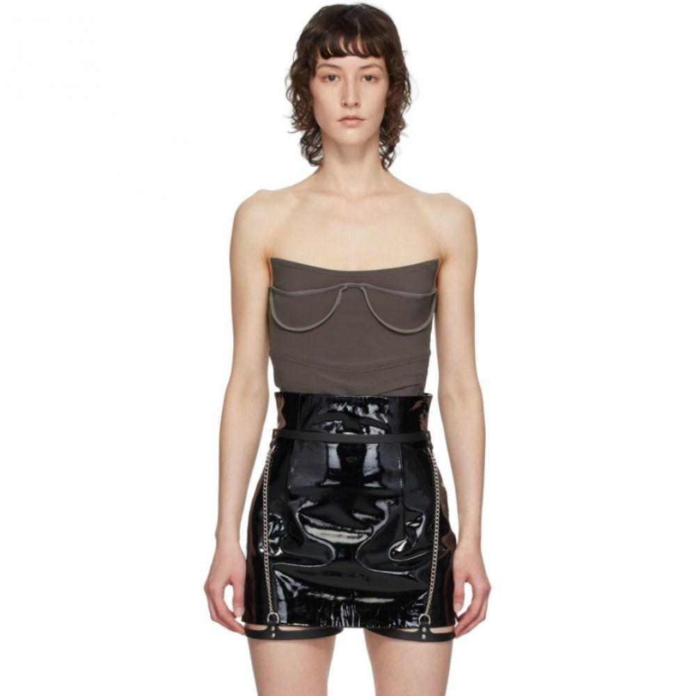フリート イリヤ Fleet Ilya レディース ファッション小物 【Black Slim Chain Suspender Harness Belt】Black/Silver