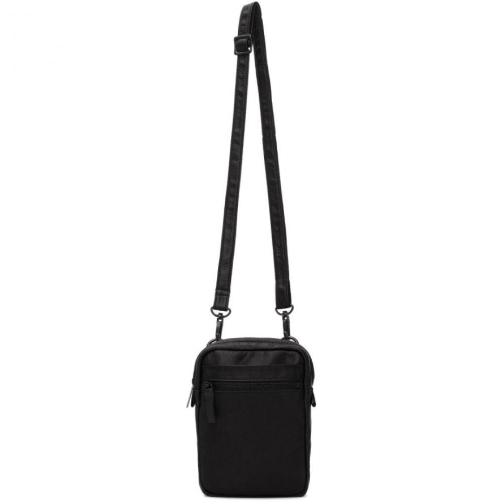ヨウジヤマモト Yohji Yamamoto メンズ メッセンジャーバッグ バッグ【Black Leather Crossbody Bag】Black