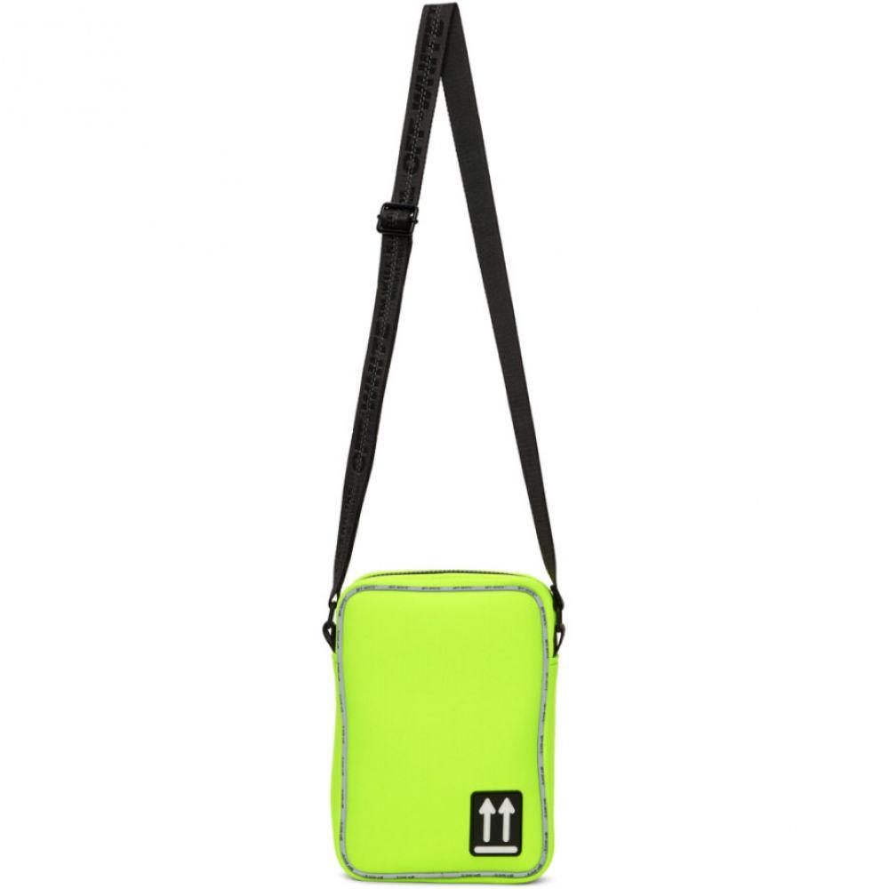 オフホワイト Off-White レディース ショルダーバッグ バッグ【Yellow Bonded Jersey Man Bag】Fluo yellow