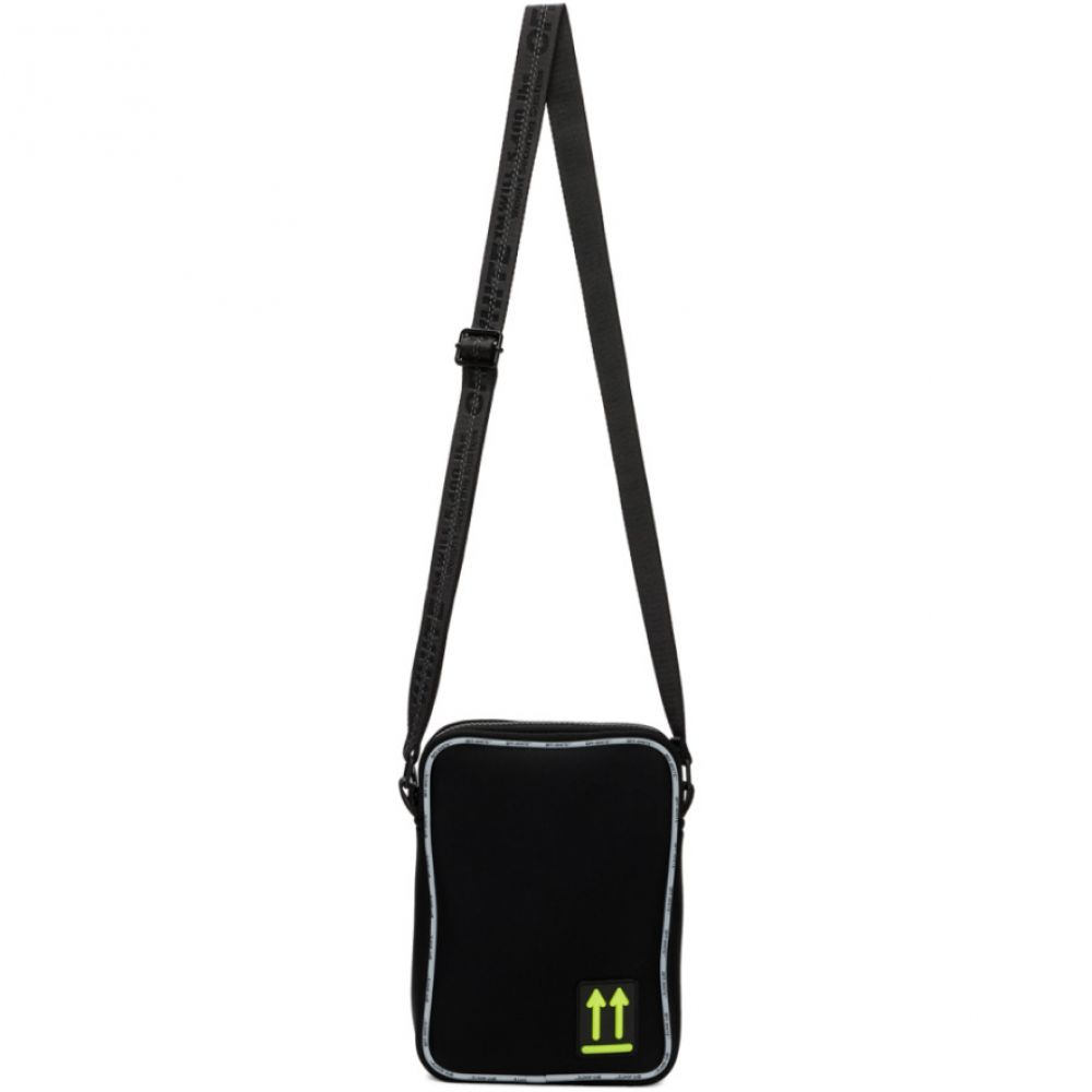 オフホワイト Off-White メンズ バッグ 【Black Bonded Jersey Man Bag】Black